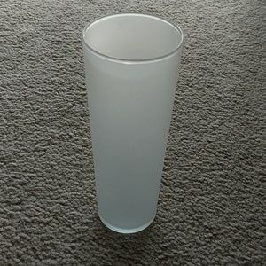Other - Frosted Glass Vase or Candle Holder